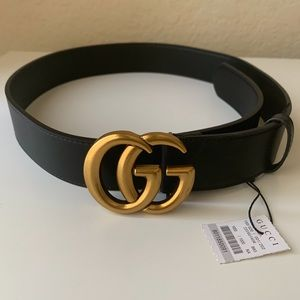 |New Gucci Belt Áüthentic Double G Marmot GG Gold